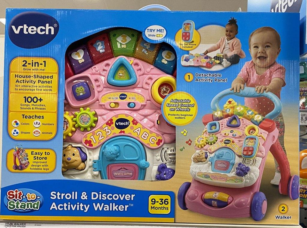 Vtech kids pink activity walker toy on shelf at target