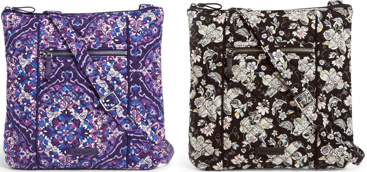 Vera Bradley purse in two colors - black and white, and purple