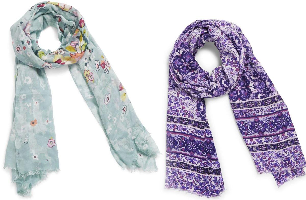 Two styles of Vera Bradley scarves