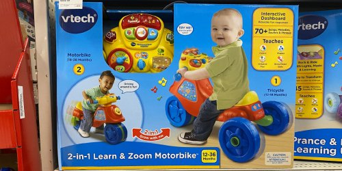 VTech Learn & Zoom Motorbike Just $24.84 at Target (Regularly $35.49)