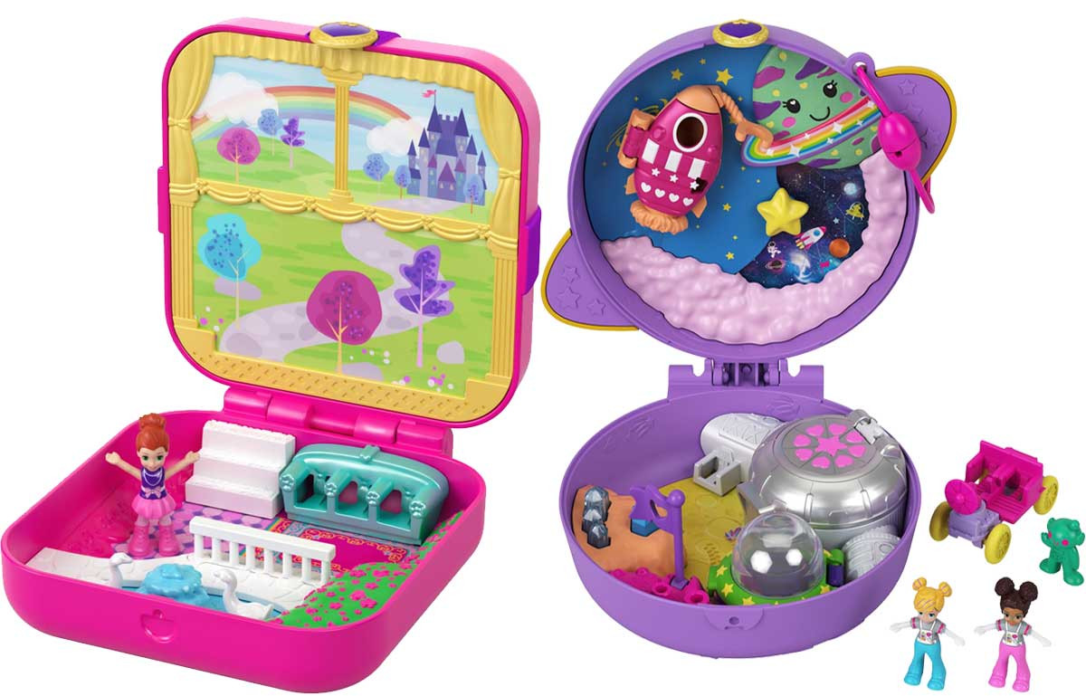 princess playset and space playset polly pocket