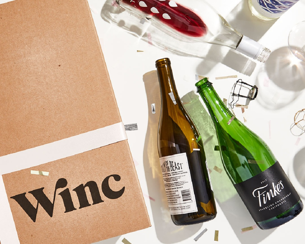 WINC bottles of wine with box