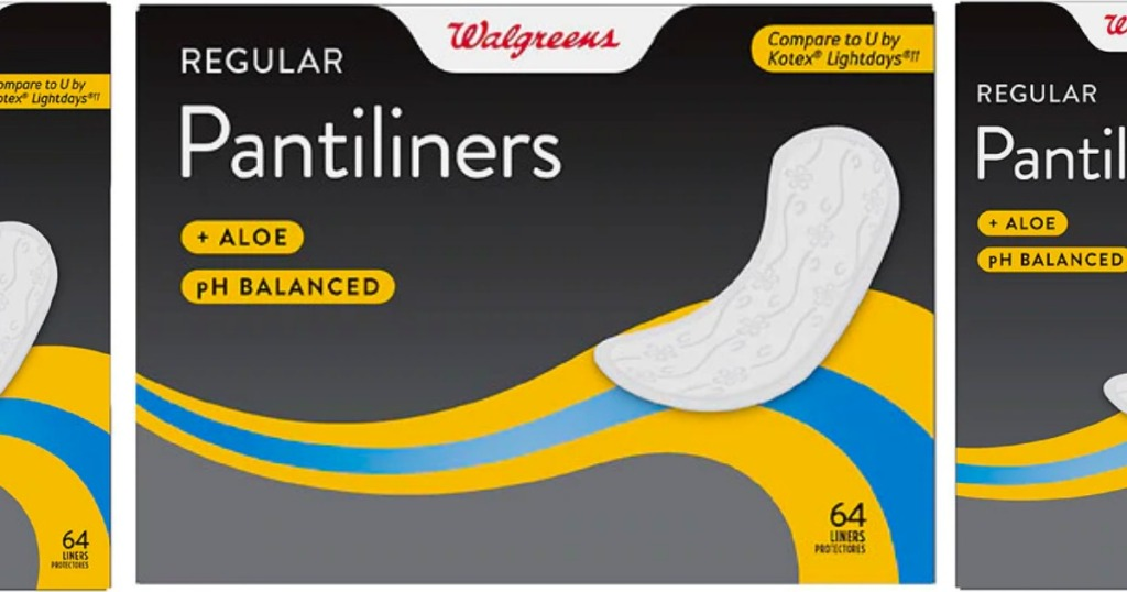walgreens pantiliners 64 count pack