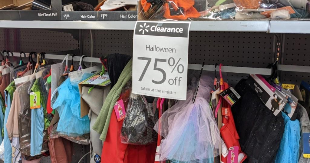 75% off walmart halloween clearance