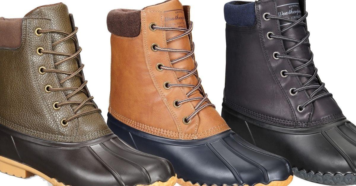 Weatherproof Vintage Men's Duck Boots