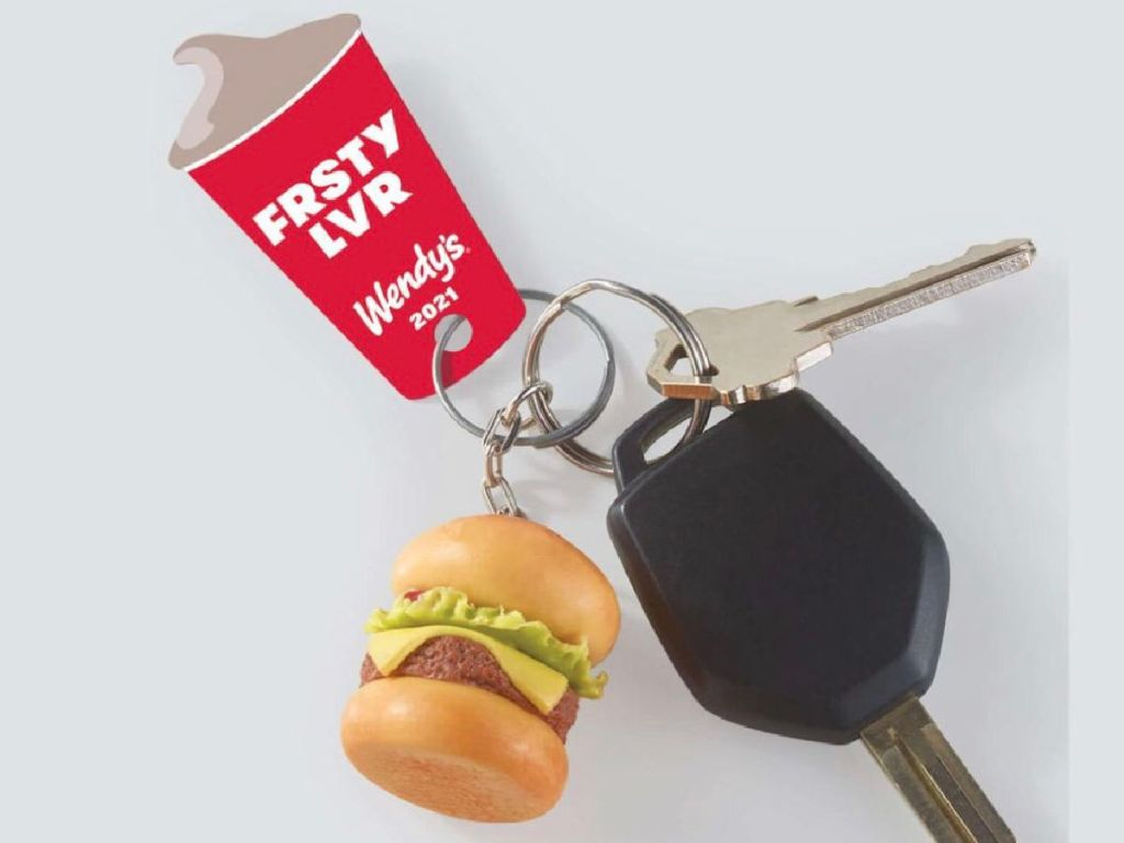 Wendy's Frosty Tag attached to keychain