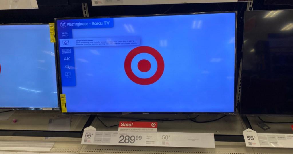 television on shelf at Target