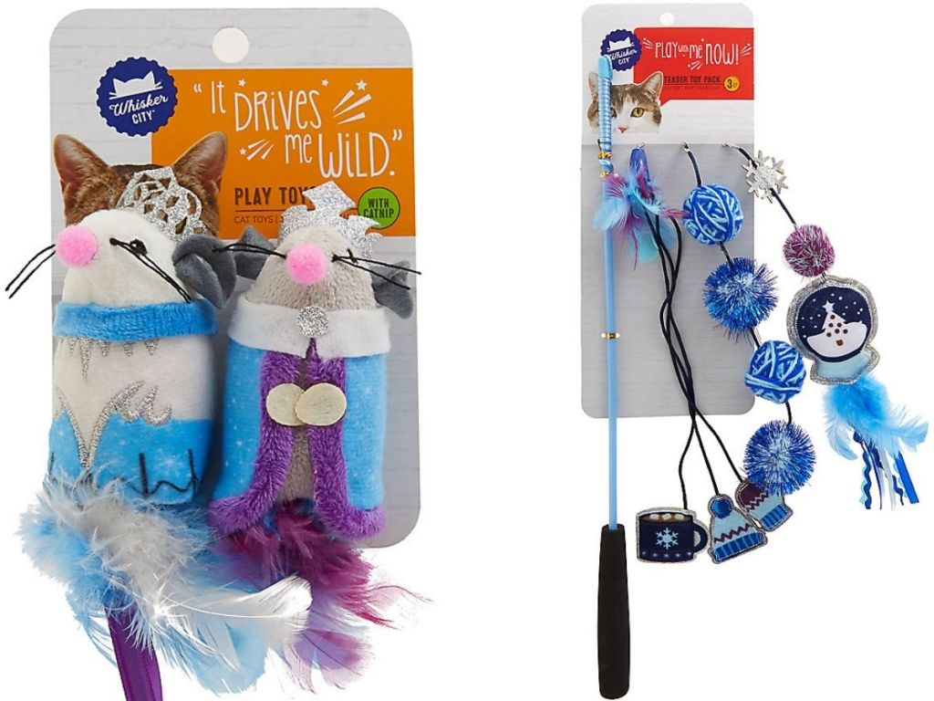 Two Whisker City Holiday Cat Toys