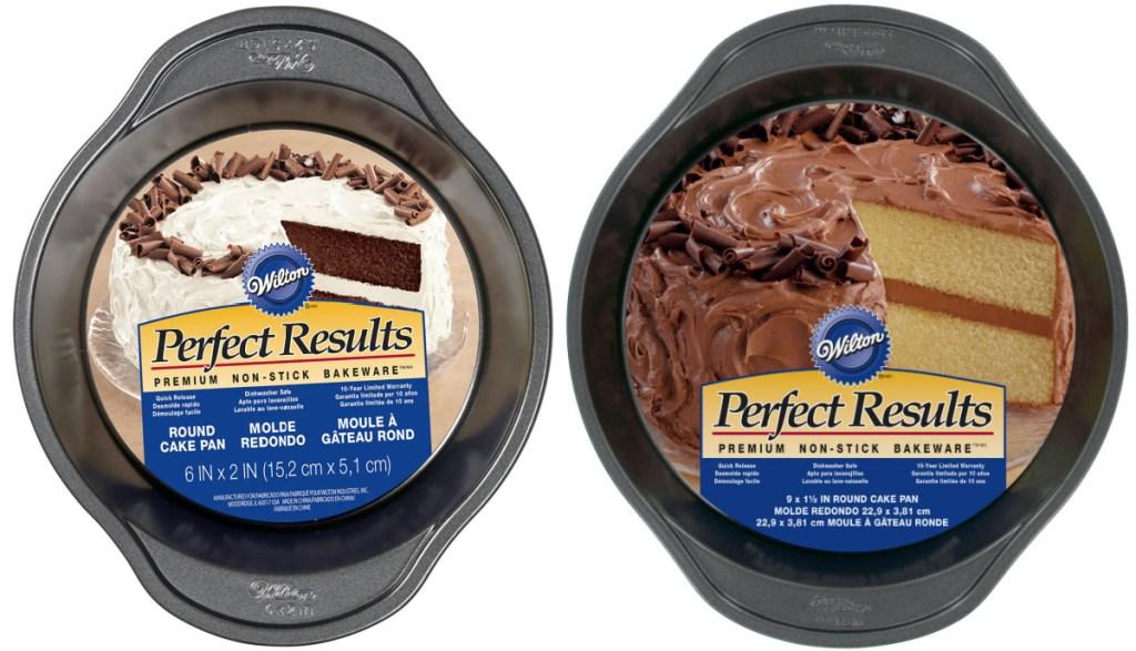 two round baking pans