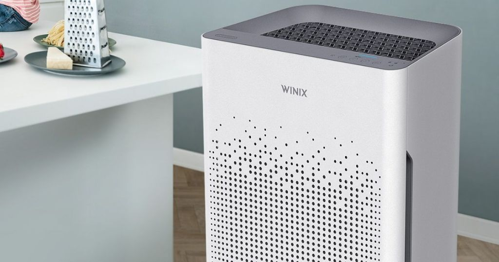 air purifier in a kitchen