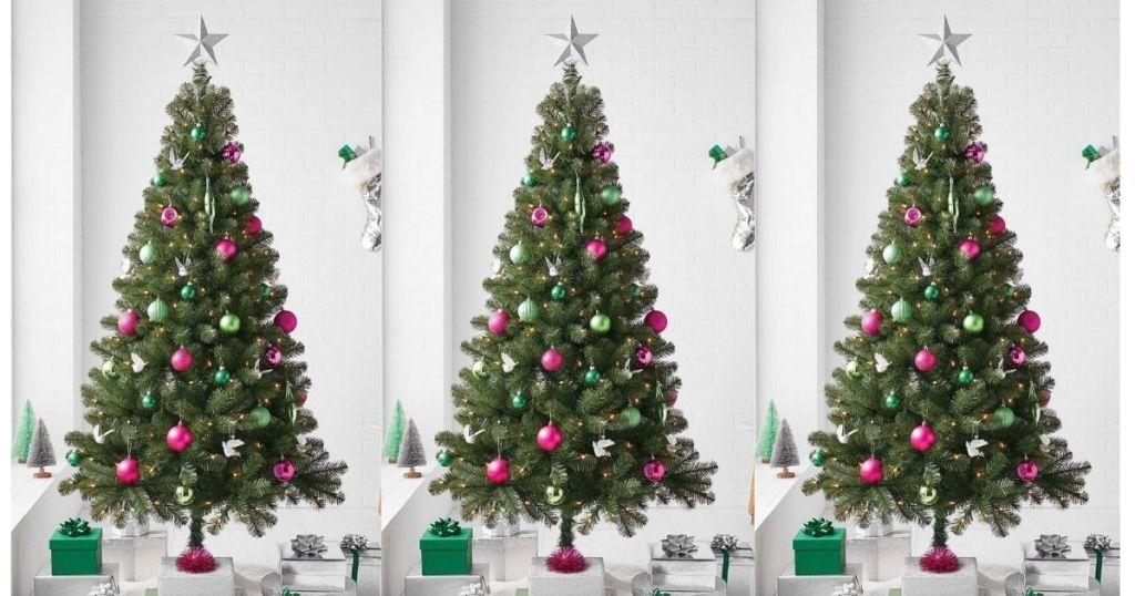 3 Wondershop 6-ft artificial trees