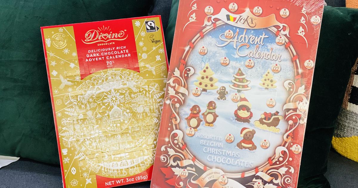 2 advent calendars at world market