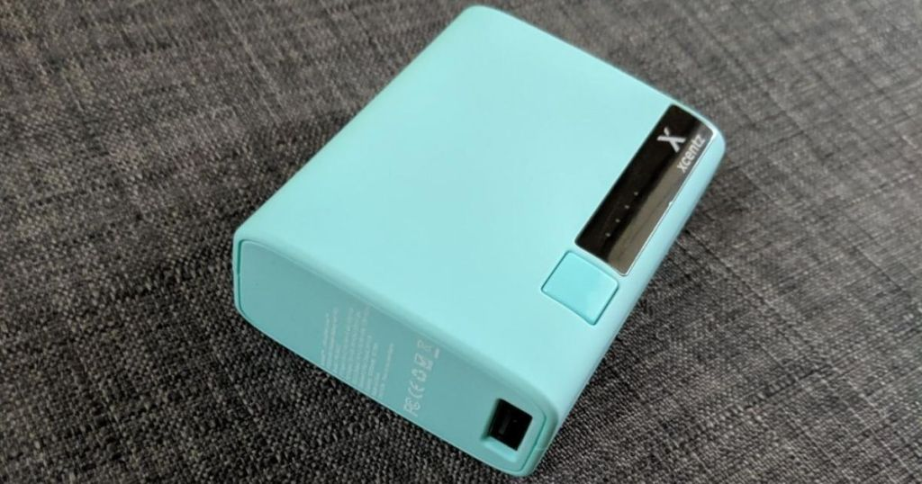 blue power bank charger