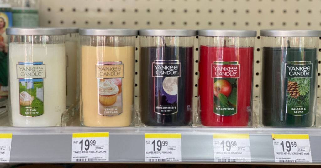 candles on shelf