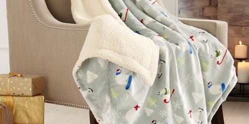 Sherpa Throw Blankets Only $9.99 on Zulily (Regularly $50+) | Includes Christmas Designs