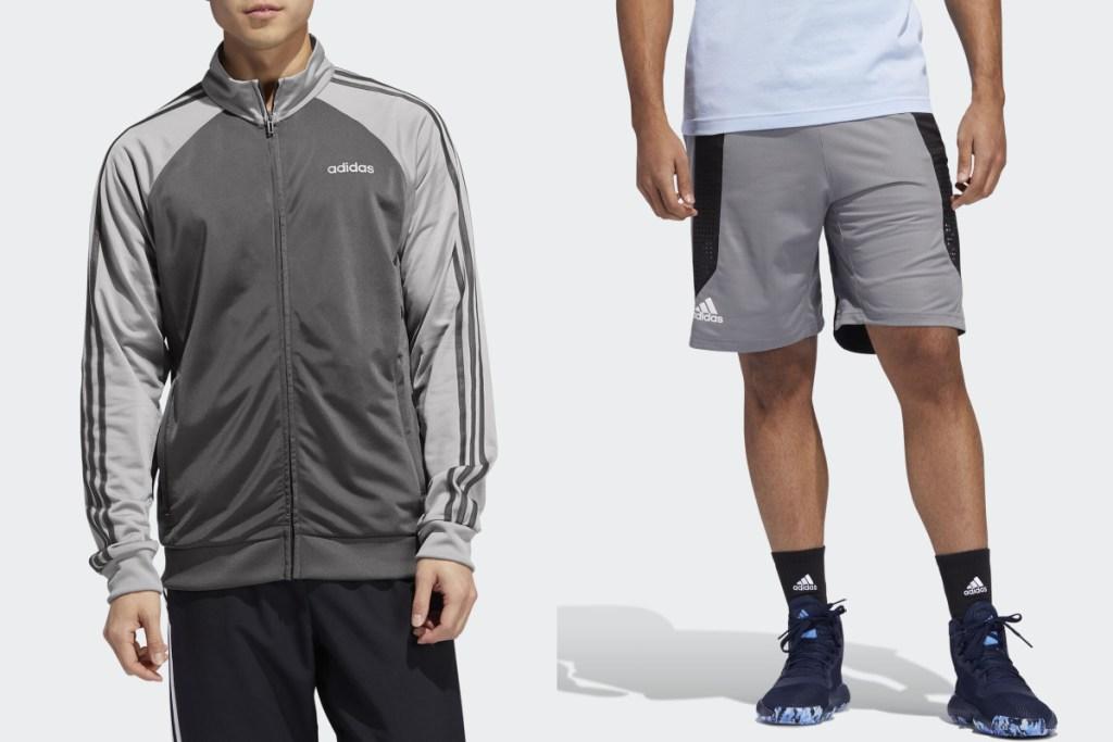 adidas gear jacket and shorts