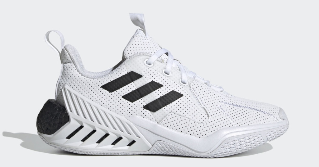 adidas kids 4uture shoes in black and white