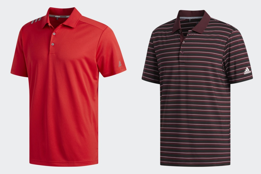 adidas polos red and maroon stripe
