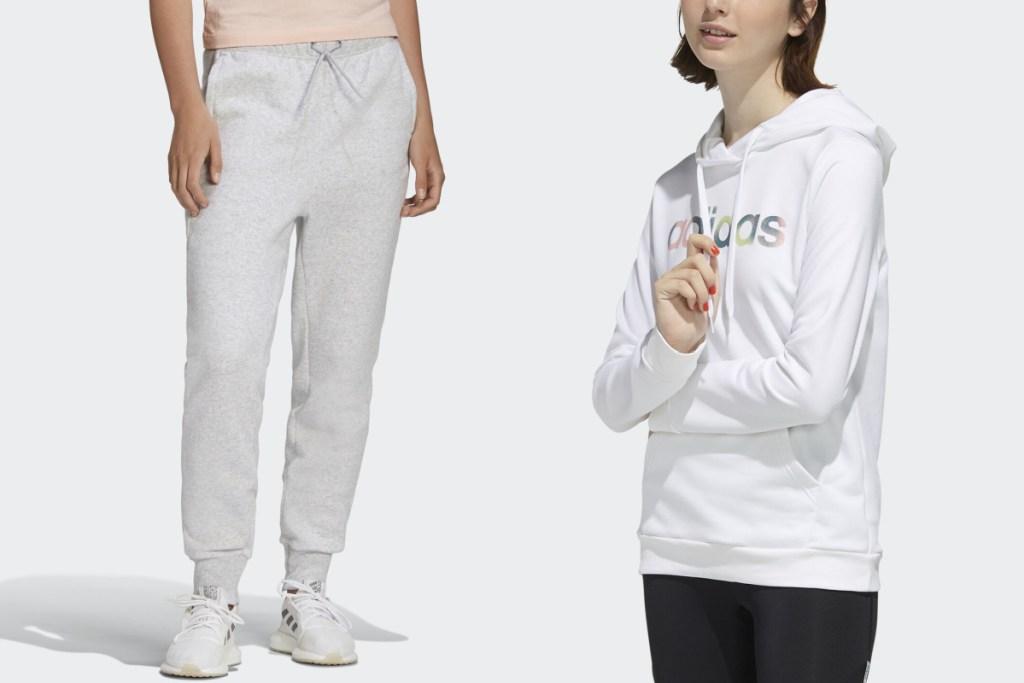 adidas womens gear pants and hoodie