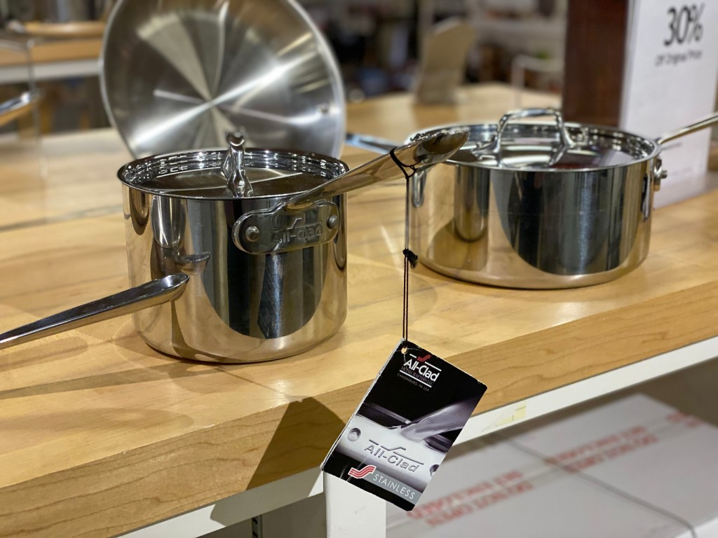all-clad pans on display at Macy's