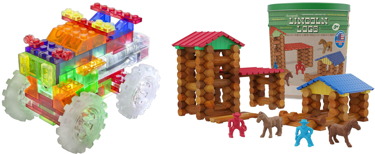 light up truck and Lincoln logs