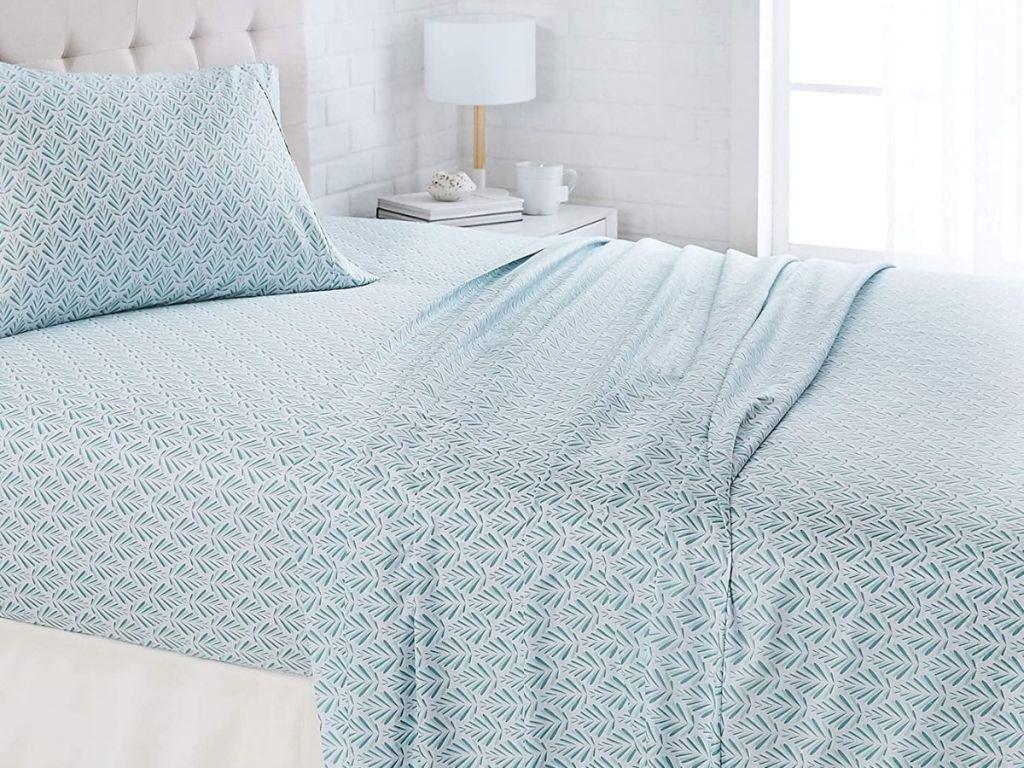 blue fern sheet set