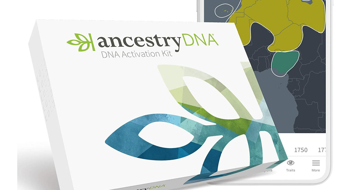 ancestry dna test next to phone
