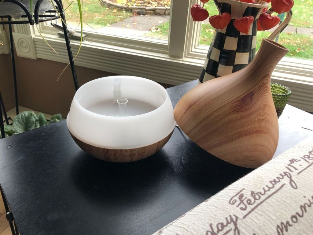Anjou diffuser base on top sitting next to base