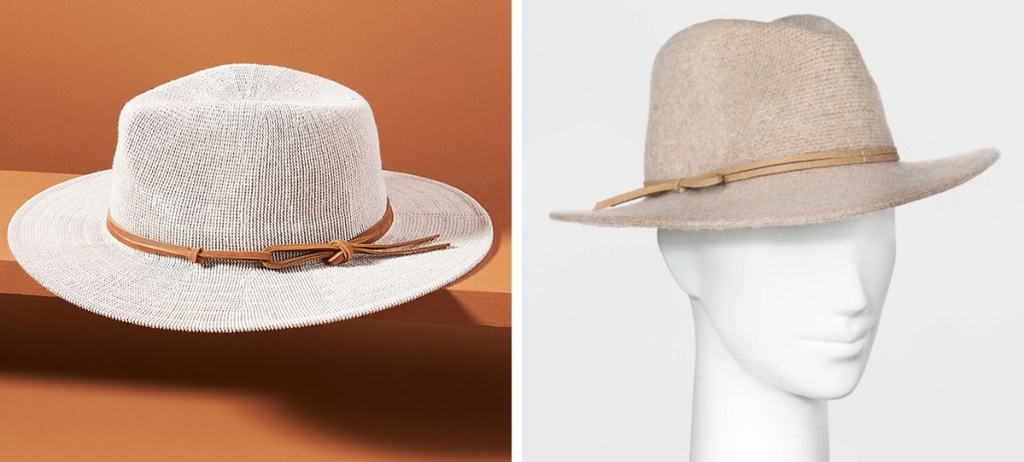 anthropologie hat next to target fedora hat
