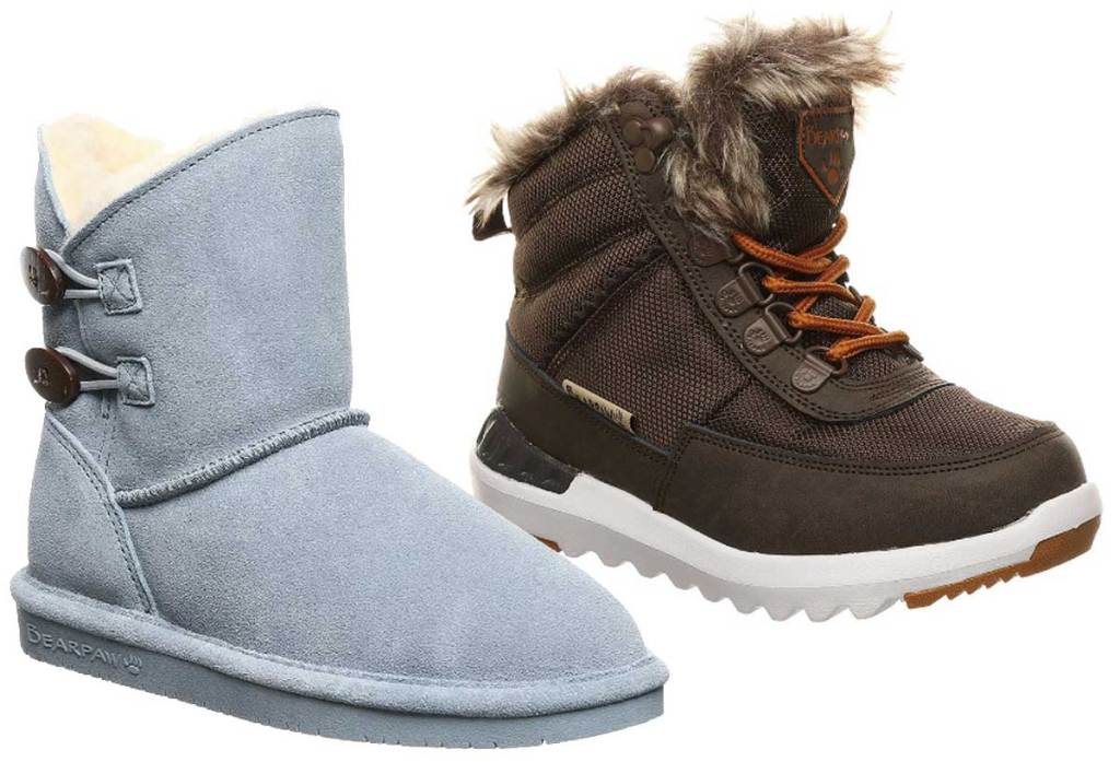 bearpaw blue and brown boots