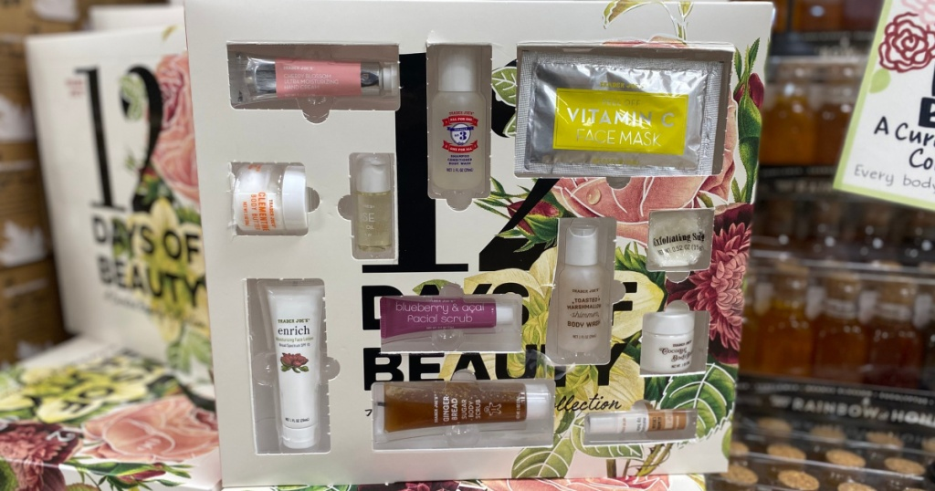 beauty advent calendar at trader joes opened
