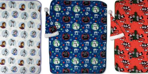 Disney Travel Blanket w/ Matching Santa Hat Only $14.99 on Macy's.com (Regularly $50) | Star Wars, Frozen & More