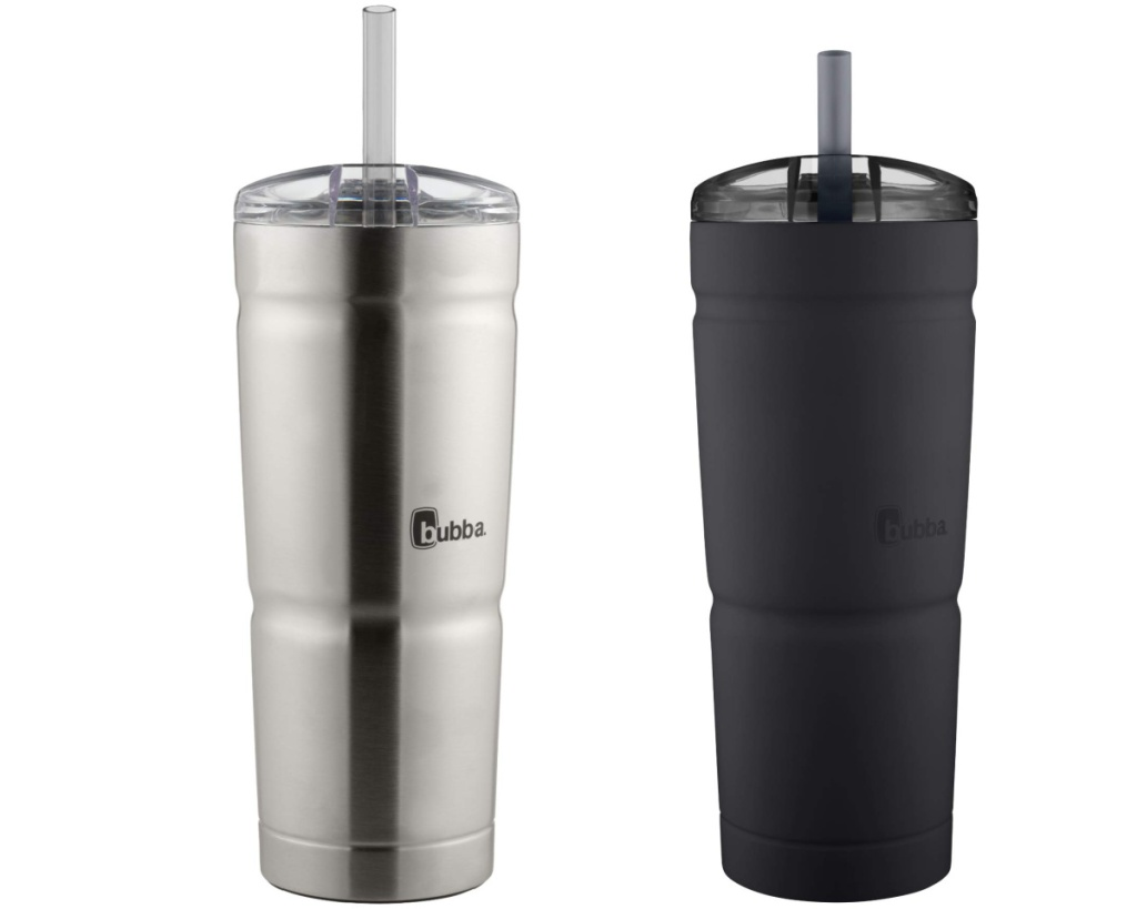 bubba stainless steel cups 2-pack black and silver
