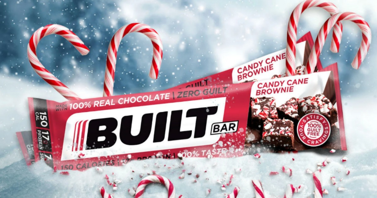 Built candy cane brownie bars