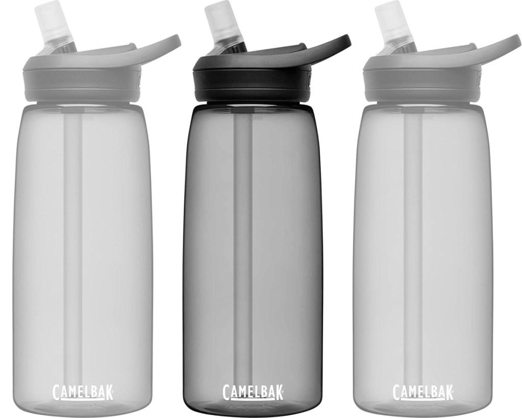 camelback eddy+ water bottle in charcoal