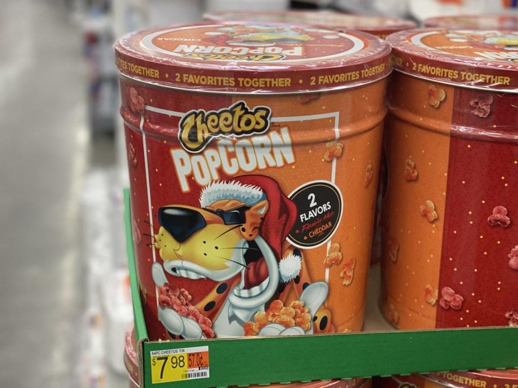Cheetos popcorn tin