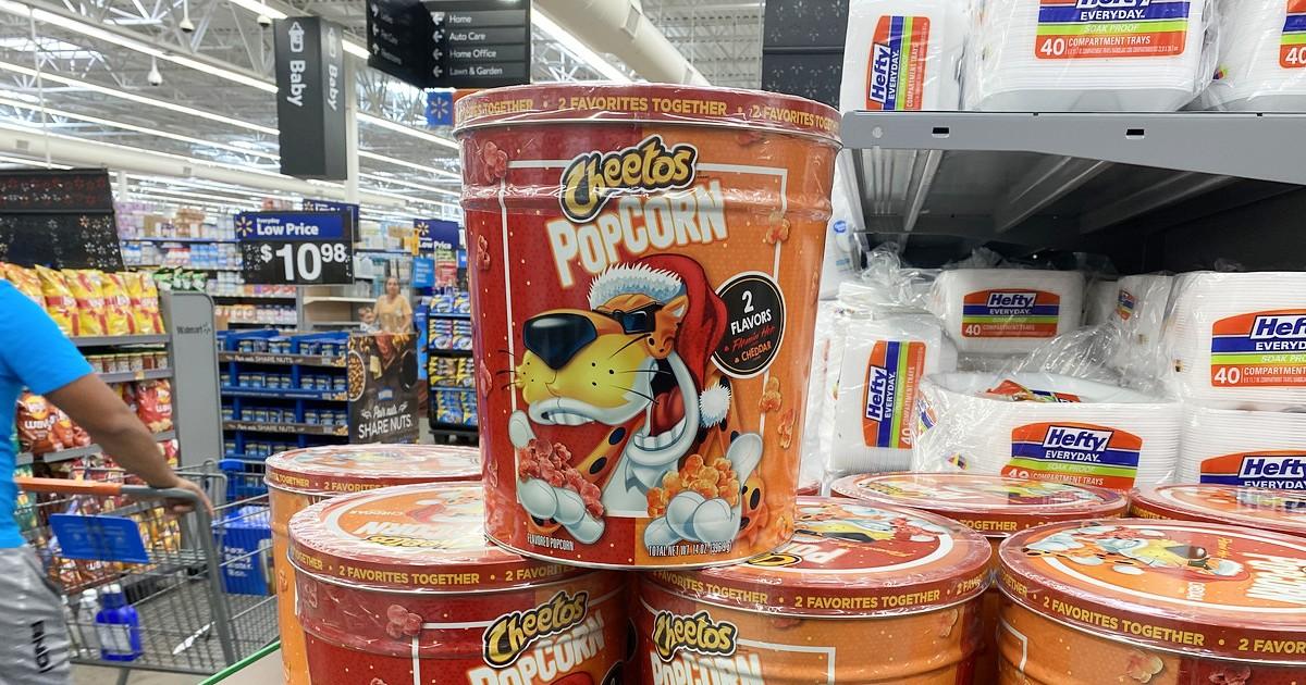 Cheetos tin at Walmart