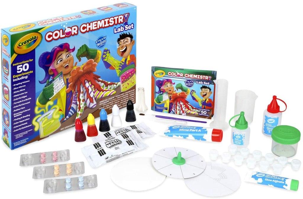 set kimia warna crayola