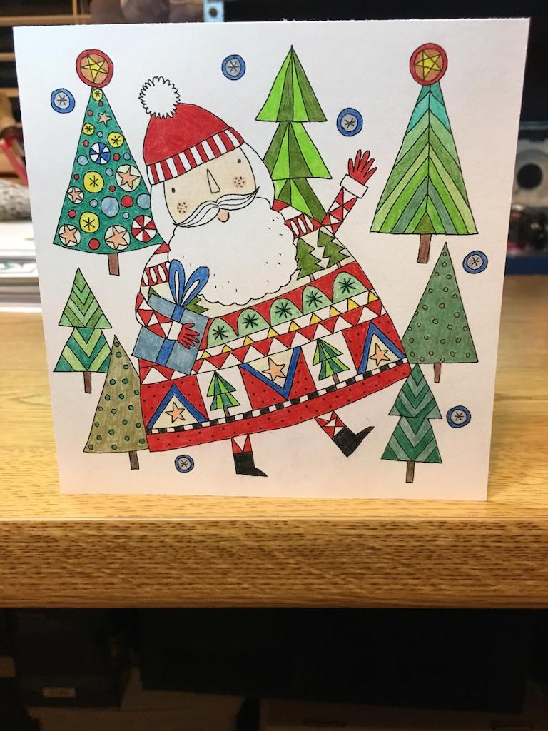 colored Christmas card