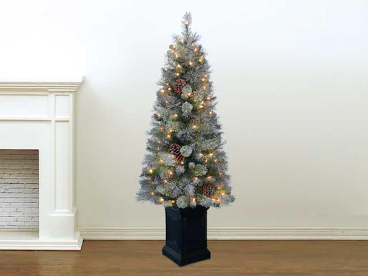 4'pohon natal di cemara