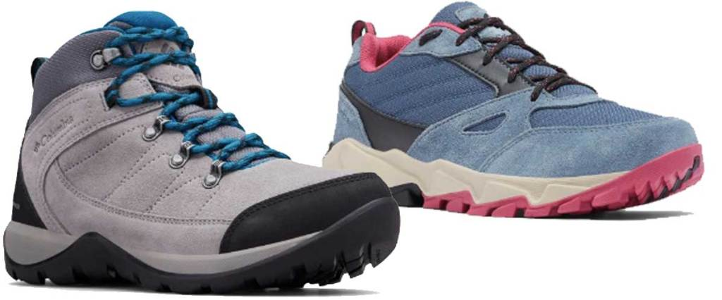 women's footwear two pairs of hiking shoes