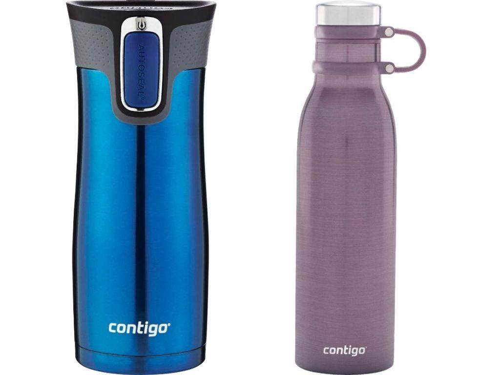 blue and purple contigo cups