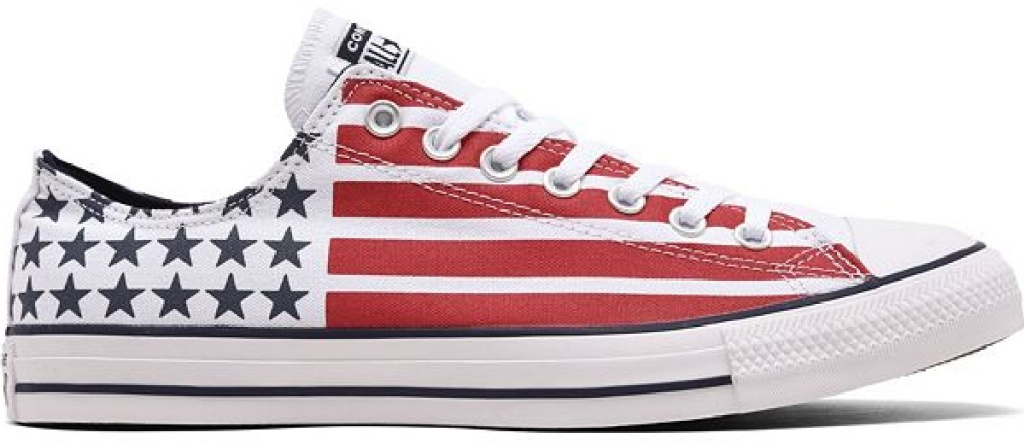 american flag Converse lace up shoes