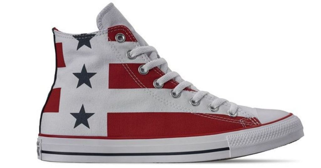Converse American flag lace up shoes