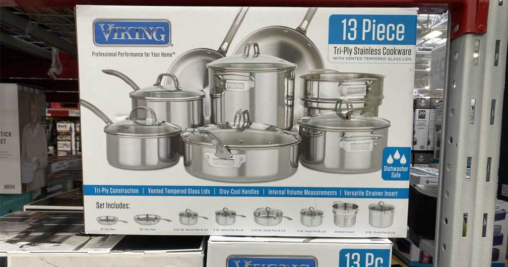 13 piece cookware set in store
