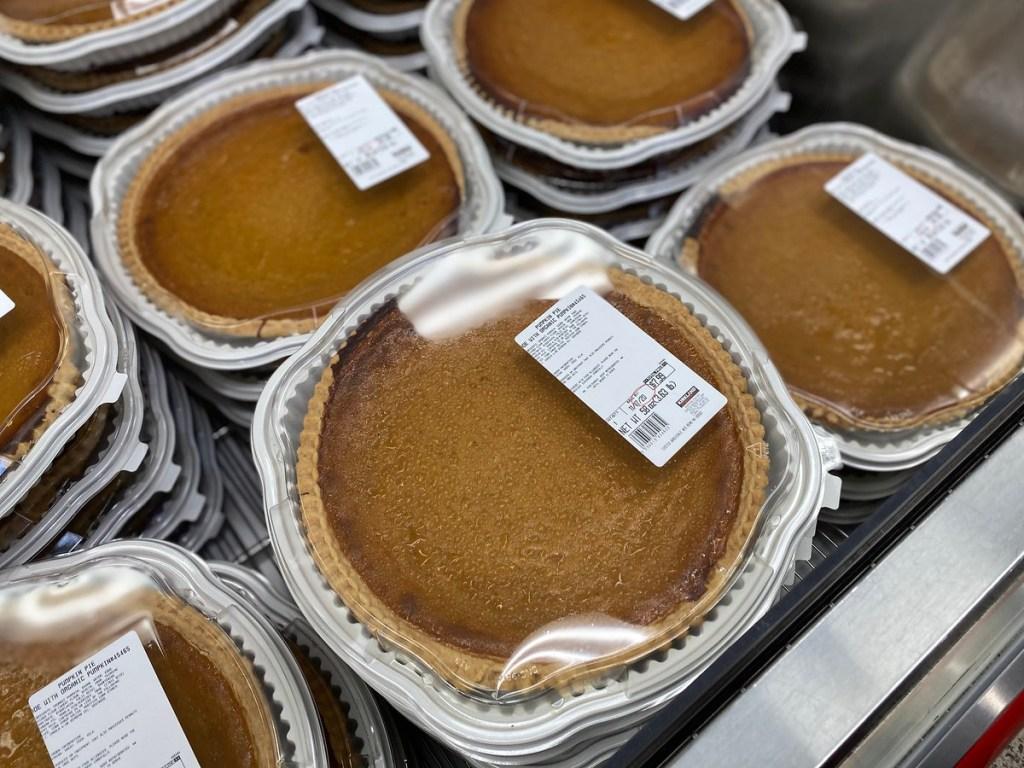 pumpkin pie at Costco