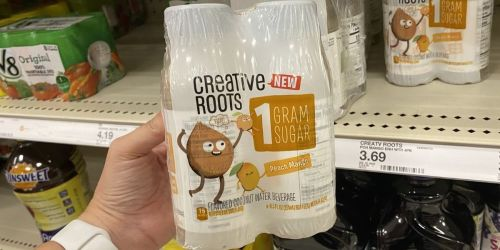 50% Off Creative Roots Flavored Coconut Water 4-Packs at Target | Just Use Your Phone