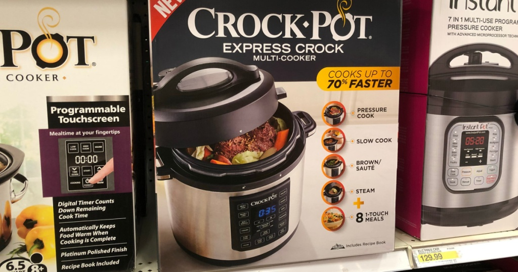 crock pot express cooker in box in store