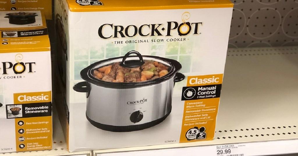 crock pot in box on store shelf