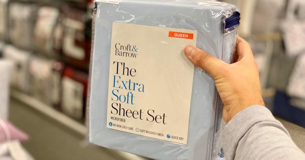 croft & barrow sheet set in hand in store